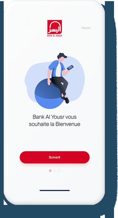 Vous téléchargez l'application « ALYOUSR CONNECT®-Ouvrir Mon Compte » depuis PlayStore  ou GooglePlay